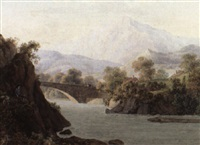 ziegenhirte in flu landschaft by jean-philippe linck the younger