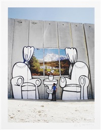 separation wall - alpine view by banksy