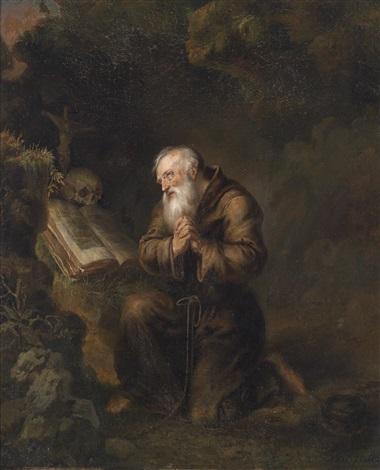 ein betender einsiedler by gerrit dou