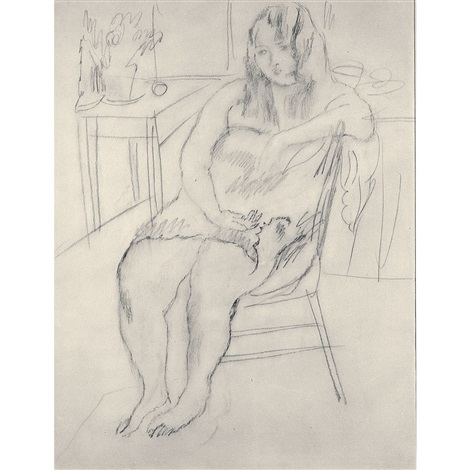 girl in boudoir by jules pascin