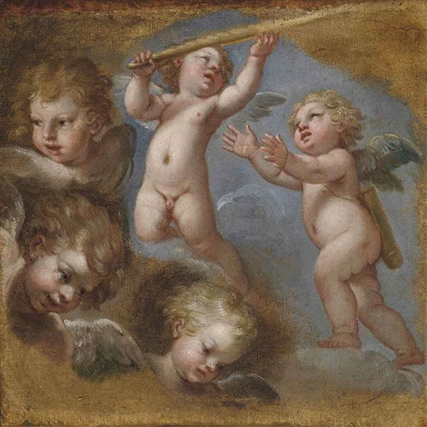 studies of putti by michel corneille the younger