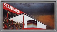 burning standard, after ed ruscha from the series pictures of cars by vik muniz