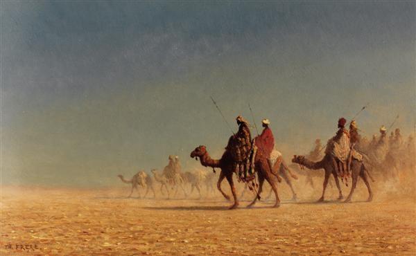 caravane dans le désert by charles théodore frère bey frère