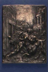 hercules wrestling a centaur by moderno