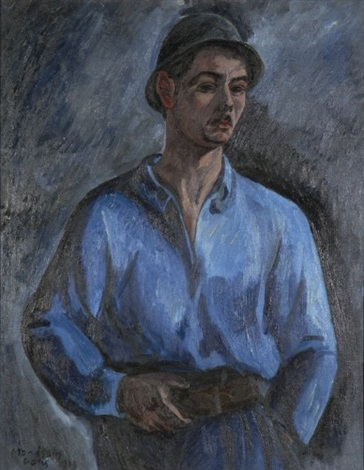 homme en bleu by simon françois stanislas mondzain