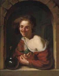 the merry drinker by louis de moni