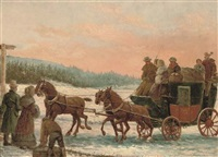 at the coach stop by george harcourt sephton