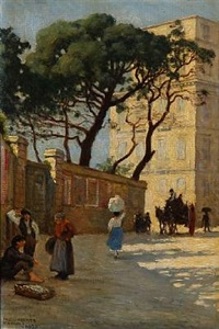 street life in napoli by paul gustave fischer