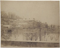 vue de la manufacture de sèvres et de ses jardins par un temps de neige by henri-victor regnault