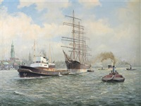 hamburg harbour by h. pikull