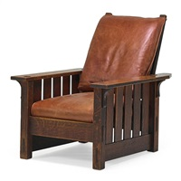 morris chair, no.332 by gustav stickley