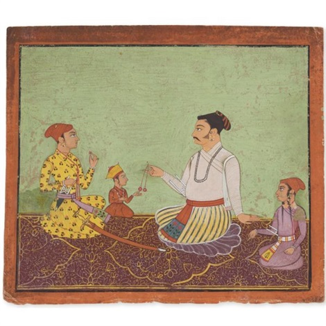 a nobleman with his children by indian school 17