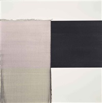 exposed painting intense black red violet by callum innes
