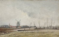 landscape at bispebjerg mill by laurits andersen ring