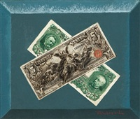 five-dollar bills by victor dubreuil