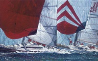 the kenwood cup: gybing downwind by michael vaughan