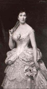 portrait de femme en robe de bal by g. lehmann