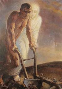 mystical ploughing by rudolf adamek