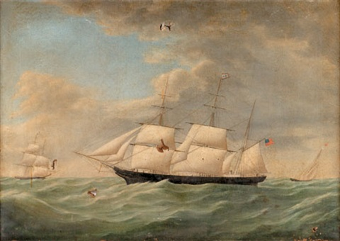 the clipper ship clara haxall at full sail by anglo american school 19