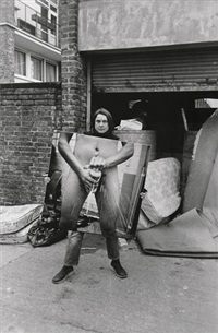 got a salmon on in the street no. 2 by sarah lucas