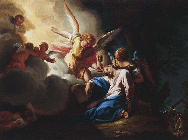 christ in the garden of gethsemane. Christ In The Garden Of Gethsemane Being Succoured By Angels Francesco Trevisani T