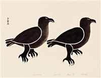 two ravens by kenojuak ashevak