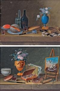 fleurs et dominos confiture de groseille et boîte de peinture paire by lelong