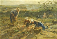 potato harvest by johann jan zoetelief tromp