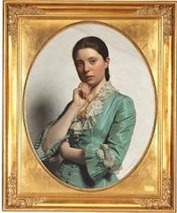 dame-portrait by frederik (johan frederik nikolai) vermehren