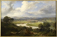 a panoramic view of dunkeld from the south by mcneil macleay