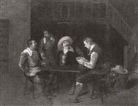 jugadores de cartas en una venta by vicente campesino y mingo
