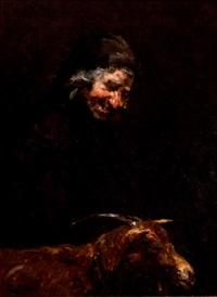 mujer con cabra by agustin alegre monferrer