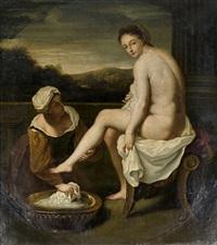 jeune femme à sa toilette by jean-baptiste santerre