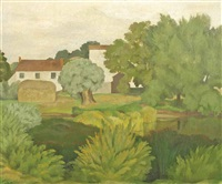 the farm pond by john northcote nash