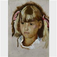 portrait of a girl by lilias torrance newton