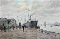 harbour scene from le havre by amélie burdin