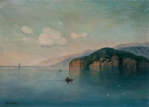 lake sevan by georgiy zakharovich bashinzhagyan