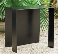 black side table by arthur silverman