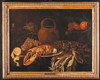natura morta con aragosta by alexander coosemans