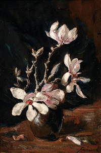 still life with magnolias by theo goedvriend