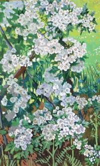 composition florale, pommier en fleurs by yvonne jean-haffen