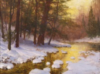 woodland stream by walter launt palmer