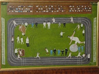 athletics (+ an englishman's home, 1970, smllr; 2 works) by margaret baird