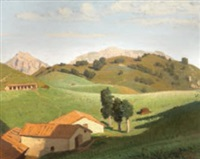 mattino al sole in valsassina by oreste albertini