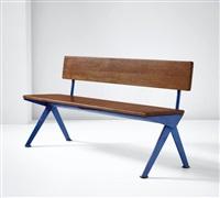marcoule' bench, designed for the centre d'études atomiques, marcoule by jean prouvé