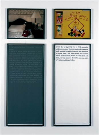 douleur exquise il y a 48 jours diptych by sophie calle