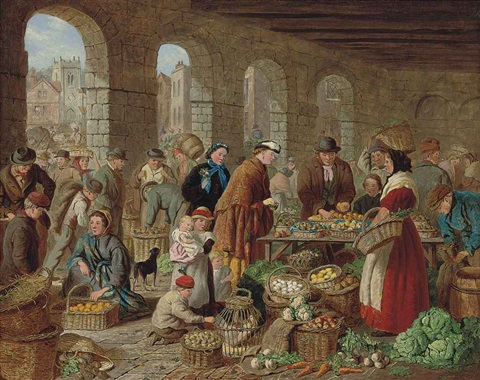 the busy market by henry charles bryant