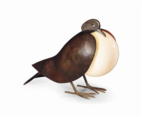 pigeon table lamp by françois xavier lalanne