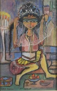 femme au voile by jazeh tabatabai