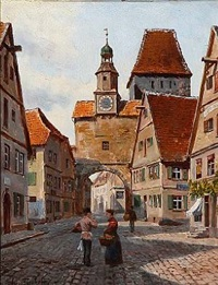 street scape from nuremberg by august fischer